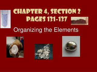 Chapter 4, Section 2 Pages 131-137