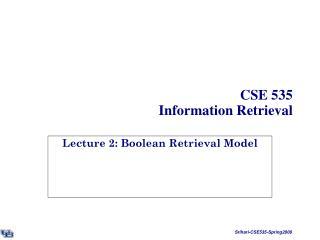 CSE 535 Information Retrieval