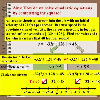 Aim:  How do we solve quadratic equations by completing the square?