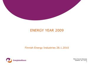 ENERGY YEAR 2009