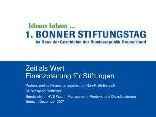 Zeit als Wert Finanzplanung f r Stiftungen