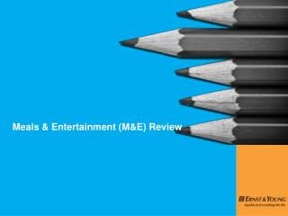 Meals & Entertainment (M&E) Review