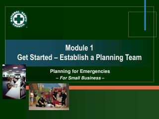 Module 1 Get Started – Establish a Planning Team