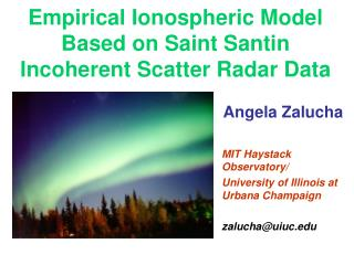 Empirical Ionospheric Model Based on Saint Santin Incoherent Scatter Radar Data