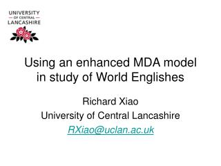 Using an enhanced MDA model in study of World Englishes