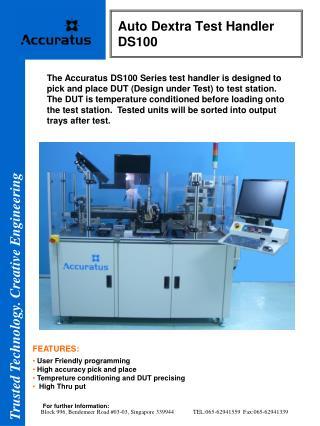 Auto Dextra Test Handler  DS100
