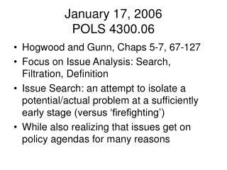 January 17, 2006 POLS 4300.06