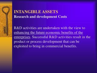 INTANGIBLE ASSETS Research and development Costs