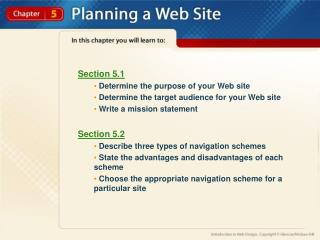 Section 5.1  Determine the purpose of your Web site