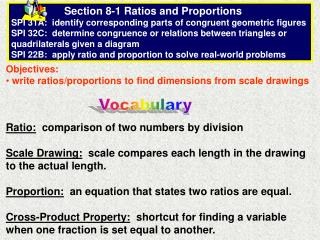 Objectives:  write ratios/proportions to find dimensions from scale drawings