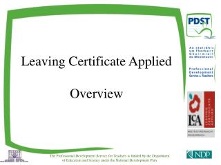 Leaving Certificate Applied Overview
