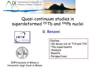 Quasi-continuum studies in superdeformed  151 Tb and  196 Pb nuclei