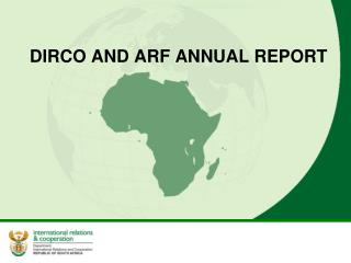 DIRCO AND ARF ANNUAL REPORT