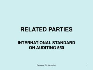 RELATED PARTIES