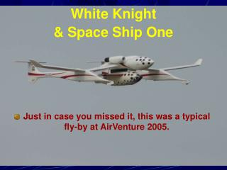White Knight  & Space Ship One
