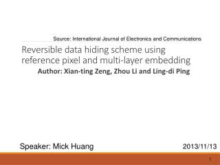 Reversible data hiding scheme using reference pixel and multi-layer embedding