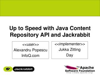 Up to Speed with Java Content Repository API and Jackrabbit