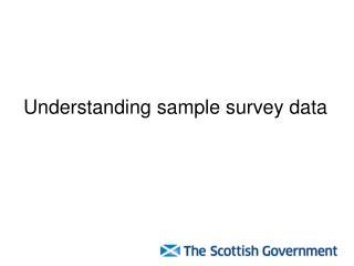 Understanding sample survey data