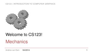 Welcome to CS123!