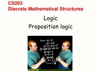 CS203 Discrete Mathematical Structures