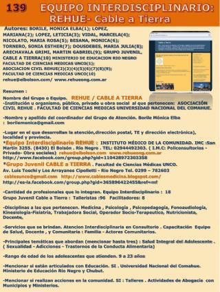 Autores:  BORILE, MONICA ELBA(1); LOPEZ,  MARIANA(2); LOPEZ, LETICIA(3); VIDAL, MARCELA(4);