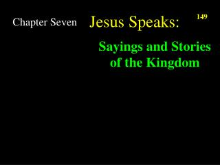 Jesus Speaks: