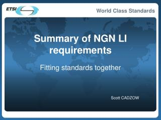 Summary of NGN LI requirements