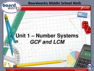 Unit 1 – Number Systems GCF and LCM