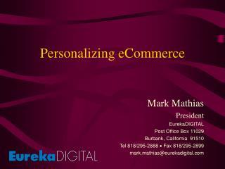 Personalizing eCommerce