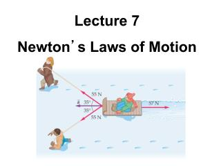 Lecture 7 Newton ' s Laws of Motion