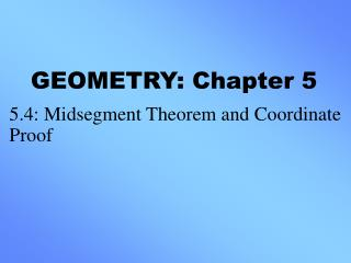 GEOMETRY: Chapter 5