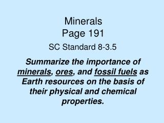 Minerals Page 191