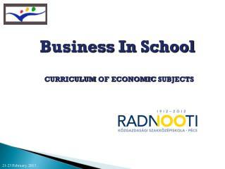 Business  In School