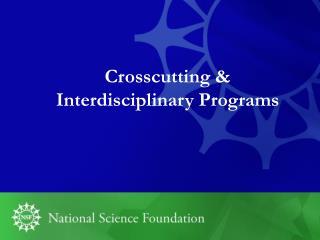 Crosscutting &  Interdisciplinary Programs