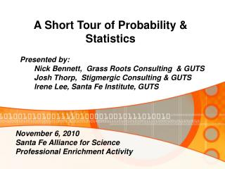 A Short Tour of Probability & Statistics
