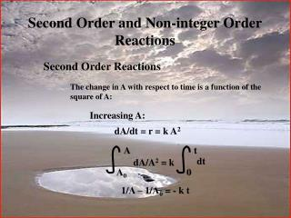 Second Order and Non-integer Order  Reactions