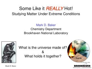 What is the universe made of? & What holds it together?