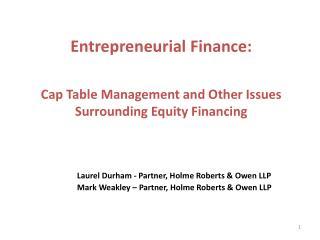 Laurel Durham - Partner, Holme Roberts & Owen LLP