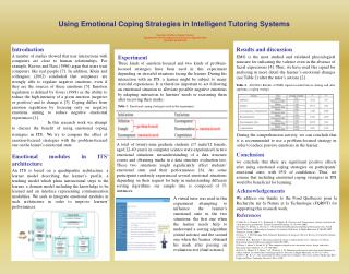 Using Emotional Coping Strategies in Intelligent Tutoring Systems
