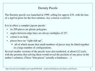 Eternity Puzzle