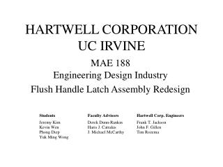 HARTWELL CORPORATION UC IRVINE