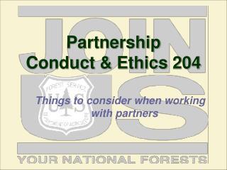 Partnership  Conduct & Ethics 204
