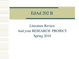 EdAd 202 B
