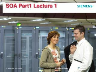 SOA Part1 Lecture 1