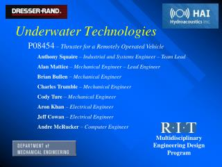 Underwater Technologies