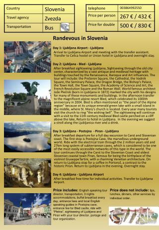 Randevous in Slovenia Day 1: Ljubljana Airport - Ljubljana