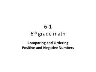 6-1 6 th  grade math