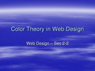 Color Theory in Web Design