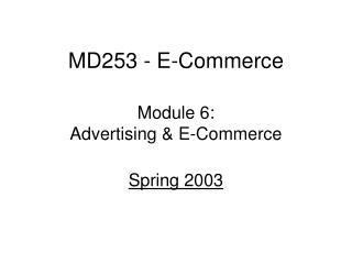 MD253 - E-Commerce