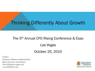 Thinking Differently About Growth